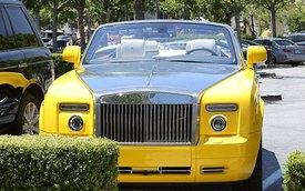 """Anh rể cô Kim """"siêu vòng ba"""" nổi bật với Rolls-Royce vàng"""