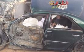 Đâm vào xe tải khi drift, dân chơi Ả-Rập thoát chết