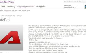 AutoPro có thêm ứng dụng đọc báo trên Windows Phone