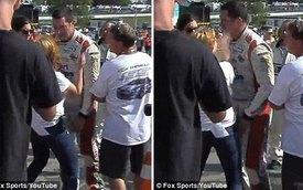 Tay đua NASCAR bị bạn gái đối thủ tát vào mặt