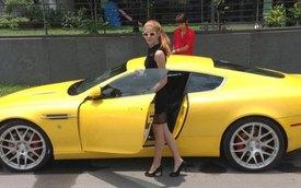 """""""Hot girl bị đánh"""" Andrea Aybar bị nghi chưa sở hữu Aston Martin DB9"""