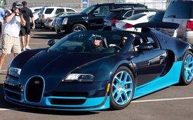 """Em gái cô Kim """"siêu vòng ba"""" tự tin cầm lái Bugatti Veyron"""