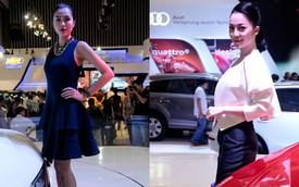 VMS 2013: Tăng Thanh  Hà và Linh Nga khoe sắc tại gian hàng Audi