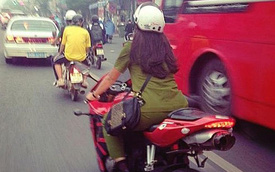 Nữ công an 9X mê môtô phân khối lớn