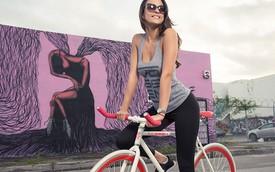 """Hot girl mặt đẹp, dáng chuẩn quảng cáo xe đạp Fixed Gear giá """"mềm"""""""