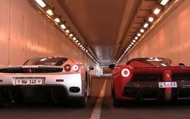 """LaFerrari lần đầu đọ tiếng gầm với """"tiền bối"""" Ferrari Enzo"""