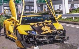 """Sau khi """"khoe mẽ"""", siêu xe Lamborghini Diablo gặp nạn"""