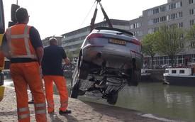 Xem cảnh trục vớt SUV sang Audi Q5 từ dưới kênh lên