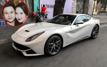 Hậu đám hỏi với Primmy Trương, Phan Thành cầm lái Ferrari F12berlinetta màu trắng độc nhất Việt Nam xuống phố