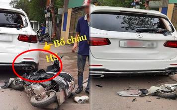 Nữ sinh đi xe máy điện tông vỡ kính Mercedes tiền tỷ, hình ảnh ông bố xuất hiện khiến tất cả thương cảm