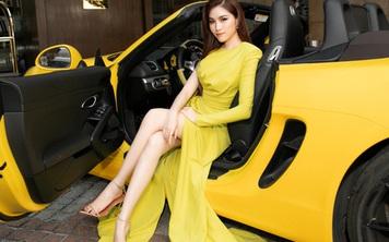 Thanh Thanh Huyền khoe chân dài bên siêu xe