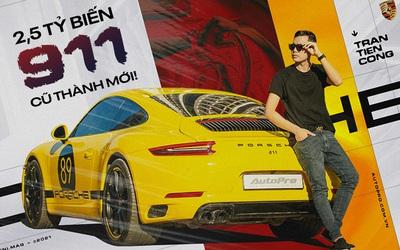 8x Hà Nội tự tay nâng cấp Porsche 911: Bỏ gần 5 tỷ lấy xác xe, chi 2,5 tỷ lên đời xe mới, tốn 'học phí' cả trăm triệu đồng