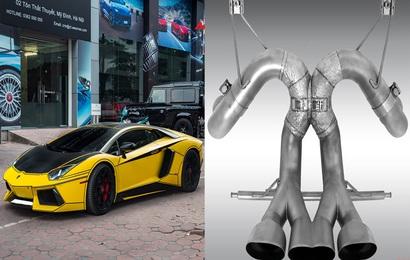 Lamborghini Aventador LP700-4 chính hãng nâng cấp bộ ống xả giá ngang Kia Morning