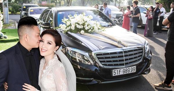 Dàn xe trị giá không dưới 40 tỷ đồng tham gia hôn lễ ca sỹ Bảo Thy và ông xã doanh nhân