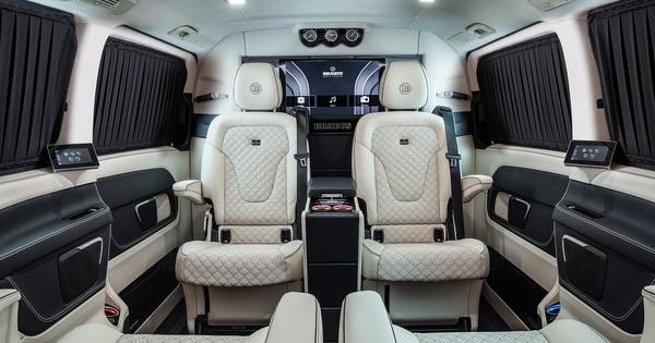 Siêu phẩm Brabus Business Plus chào hàng đại gia Việt: Nội thất sang như S-Class, trần sao Rolls-Royce, có màn hình chơi game