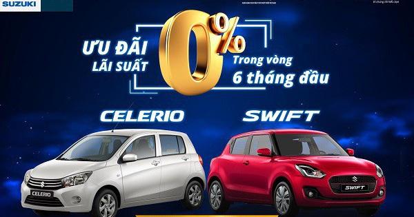 Suzuki ưu đãi không lãi suất cho khách mua ô tô trả góp trong tháng 10