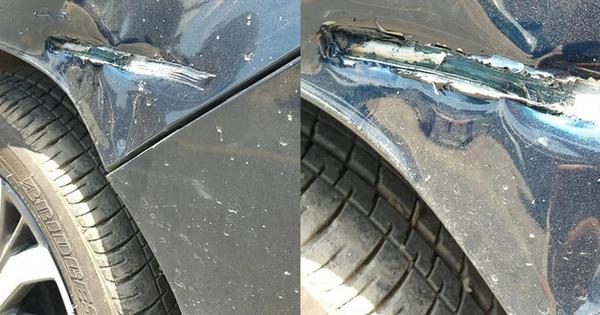 """Ô tô mới bị xe lam đâm rách, hành xử của chủ xe khiến dân mạng vỗ tay """"rần rần"""""""