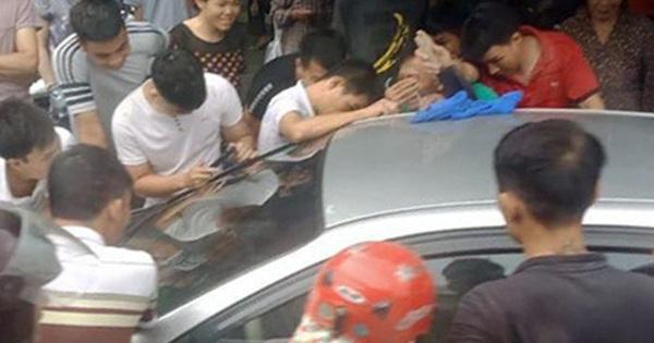 Thót tim giải cứu bé trai bị bố bỏ quên trên ô tô ở Quảng Ninh