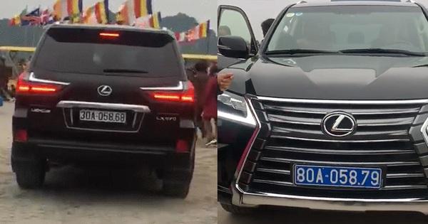 """""""Tài tình"""" xe sang Lexus LX570 mang hai biển xanh và biển trắng xuất hiện tại tỉnh Hà Nam"""