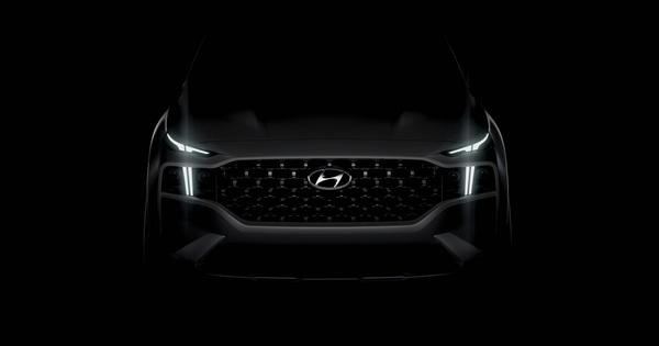 Hyundai Santa Fe mới chính thức lộ mặt: Lưới tản nhiệt ngoác rộng, cụm đèn lạ gây chú ý