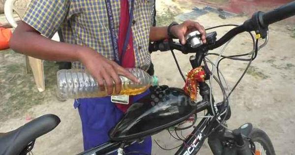 Thiếu niên 14 tuổi chế tạo xe đạp chạy bằng xăng