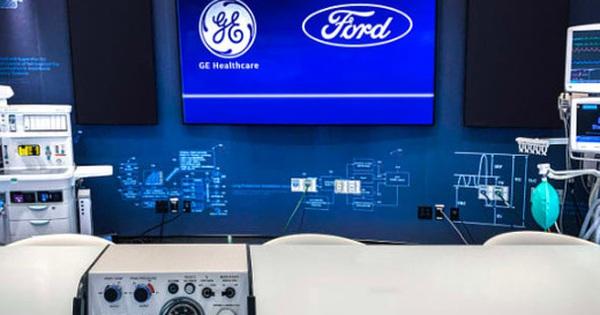 Ford và GE lên kế hoạch sản xuất 50.000 máy thở trong 100 ngày