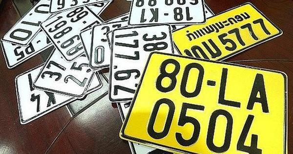 Từ 1/8: Xe kinh doanh vận tải phải đổi biển số màu trắng sang màu vàng