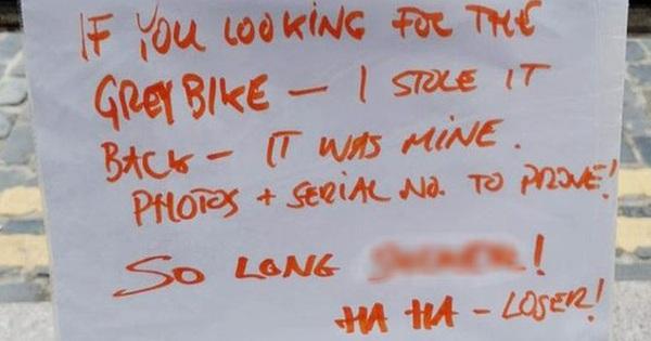 """Chủ cũ """"chôm"""" lại chiếc xe đạp đã mất, để lại lời nhắn dằn mặt khiến dân mạng không biết phân xử đúng sai như thế nào"""