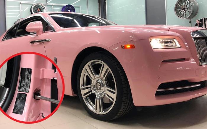 Xuất hiện Rolls-Royce Wraith màu hồng đầu tiên Việt Nam: Giống xe Ngọc Trinh mơ ước, chi tiết nhỏ khẳng định tay nghề đỉnh của thợ độ