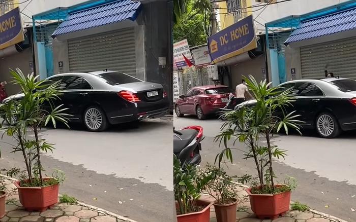 Bắt gặp chồng đi với nhân tình, vợ cầm gạch thẳng tay đập Mercedes S-Class hỏi: 'Có xuống không?'